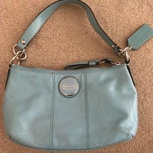 Light blue coach purse